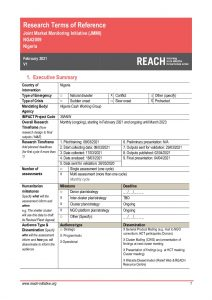 REACH Nigeria Terms of Reference JMMI February 2021