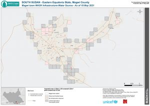 REACH SSD Map WASH Infra Magwi Town Water Source May2021