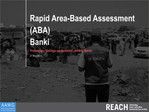 Area-Based Assessment in Areas of Return: Banki Town, Preliminary Findings Presentation - May 2021