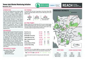 Joint Market Monitoring Initiative (JMMI) Yemen, Situation Overview – November 2019