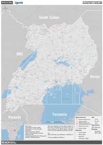 Uganda Country Reference Map January 2020