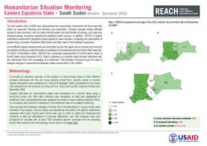Humanitarian Situation Monitoring of hard-to-reach areas of Eastern Equatoria State, South Sudan, October to December 2020