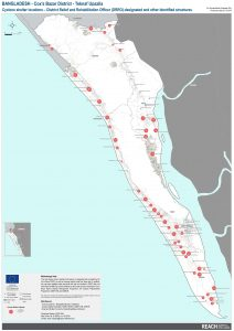 REACH BGD Map Teknaf Cyclone Shelters 23Oct2019