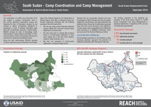 Assessment of Hard-to-Reach Areas, CCCM Sectoral Overview, South Sudan - September2019