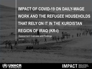 The Impact of COVID-19 on Daily-wage Work and the Refugee Households that Rely on it in the Kurdistan Region of Iraq (KR-I), presentation – April 2021