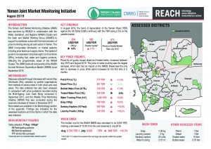 Joint Market Monitoring Initiative (JMMI) Yemen, Situation Overview August 2019