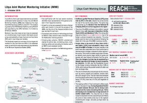 Libya Joint Market Monitoring Initative, Situation Overview - October 2019