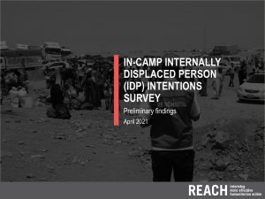 In-camp internally displaced person (IDP) intentions survey r. VII presentation - April 2021