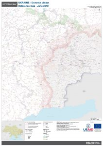 REACH Ukraine Donetsk oblast A0 overview map JUNE2019 English