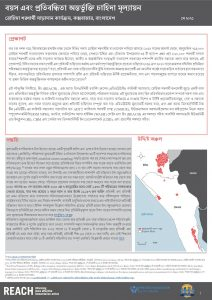 Cox's Bazar Age and Disability Inclusion Needs Assessment Factsheet in Bangla, May 2021