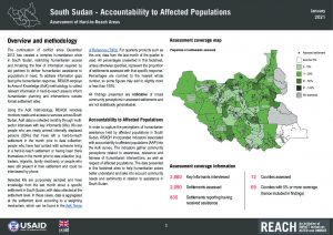 Accountability to Affected Populations (AAP) in Hard-to-Reach Settlements, Factsheet - January 2021