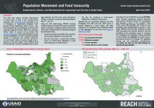 Population Movement and Food Insecurity Factsheet, Assessment of Hard to Reach Areas, South Sudan, April-June 2021
