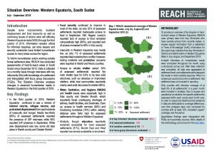 Situation Overview, Western Equatoria, South Sudan, July-September 2019