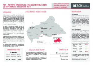 Joint Market Monitoring Initiative (JMMI) Factsheet, Central African Republic – November 2019
