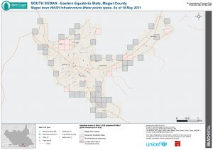 REACH SSD Map WASH Infra Magwi Town Water Points Types May2021
