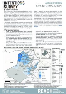 In-camp IDPs Intentions Survey -  Area of Origin, September 2020