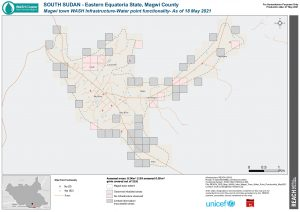 REACH SSD Map WASH Infra Magwi Town Water Point Functionality May2021