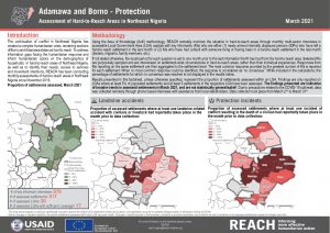 Hard to Reach Assessment in Northeast Nigeria, Protection Factsheet, March 2021