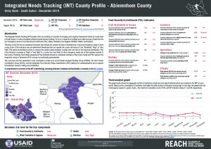 Integrated Needs Tracking (INT) system in South Sudan - County Profiles - December 2019