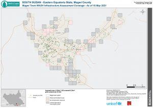 REACH SSD Map WASH Infra Magwi Town Assessment Coverage May2021