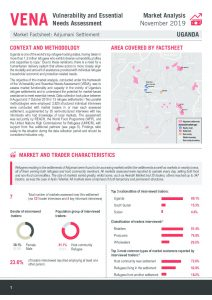 VENA Market Analysis Factsheet in Adjumani, Uganda - November 2019