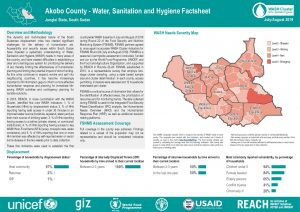 WASH Country-Wide Analysis, Greater Upper Nile Region, South Sudan--August 2019