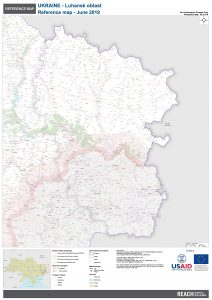 REACH Ukraine Luhansk oblast A0 overview map JUNE2019 English