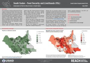 Assessment of Hard to Reach Areas - Food Security & Livelihoods, June 2021