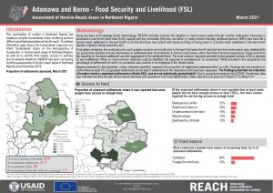 Hard to Reach Assessment in Northeast Nigeria, Food Security and Livelihood Factsheet, March 2021
