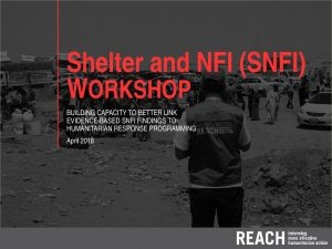 SYR_Presentation_Shelter and NFI Assessment_Workshop_April 2018