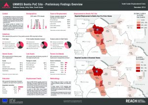SSD_Factsheet_Bentiu PoC Preliminary Findings Overview_December 2014