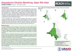 Humanitarian Situation Monitoring of Hard-to-Reach Areas in Upper Nile State, October - December 2020