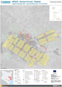 Hagadera Refugee Camp - General Infrastructure - As of JAN 2019