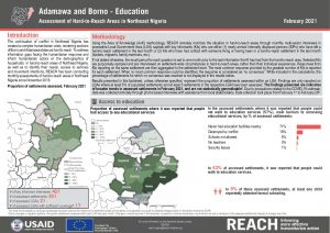 Hard to Reach Assessment in Northeast Nigeria, Education Factsheet, February 2021