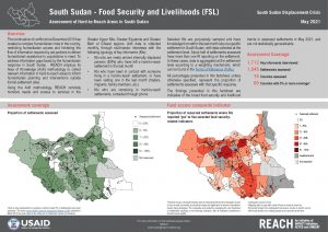 Assessment of Hard to Reach Areas, Monthly Sectoral Factsheet - Food Security & Livelihoods, May 2021