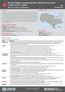 HTI_Factsheet_MSNA in Sud and Grand'Anse, Profiles of Assessed Areas_November 2016