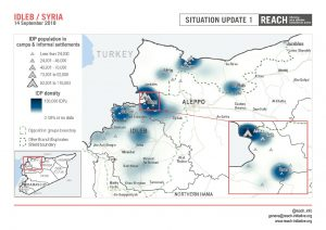 SYR_Map_Population (and density) in camps and informal Settlements in Idleb_September 2018