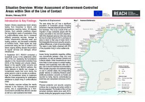 UKR_Situation Overview_Winter Assessment_February 2018