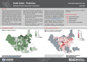 Assessment of Hard to Reach Areas, Protection, South Sudan - April 2020