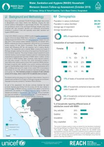 WASH Household Monsoon Season Follow-Up Assessment Overall Summary Factsheet, Cox's Bazar - October 2019