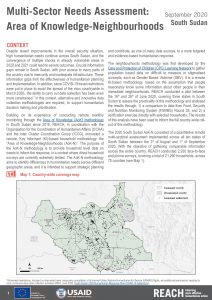 Area of Knowledge-Neighbourhoods Assessment in Lakes State, South Sudan,  October 2020
