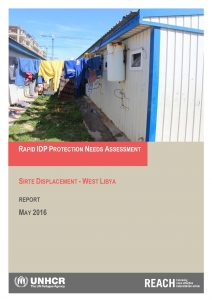REACH Rapid Protection Needs Assessment Sirte Displacement May 2016
