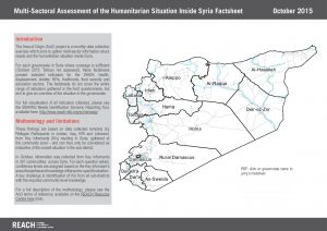 SYR_Governorate factsheets_Multi-sectoral assessment_October 2015