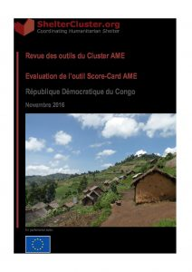 DRC_Report_Shelter-Cluster-Score-Card-Evaluation_December 2016