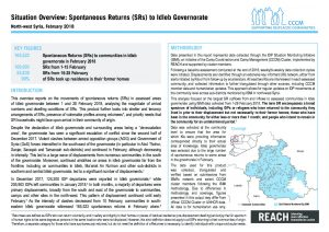 SYR_CCCM_ISMI_Idleb Situation Overview Spontaneous Returns_February 2018