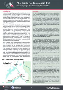 Pibor County Flood Assessment Brief, South Sudan - December 2019