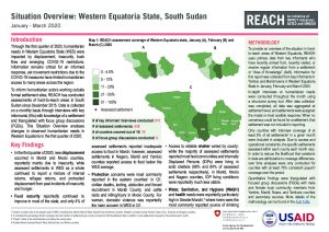 Humanitarian Situation Overview, Western Equatoria, South Sudan, January-March 2020