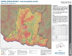 Basse Kotto, CAR (Flood Risk Map 26JUNE2020)