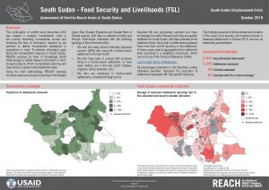Assessment of Hard to Reach Areas, FSL Sectoral Overview, South Sudan - October 2019