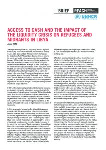 LBY_brief_access to cash and the impact of the liquidity crisis on refugees and migrants in Libya_August 2018